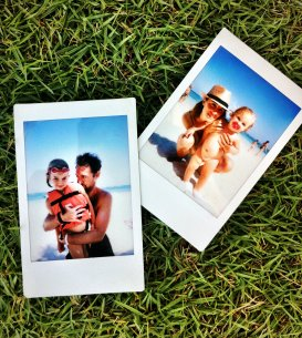 Polaroid in the beach
